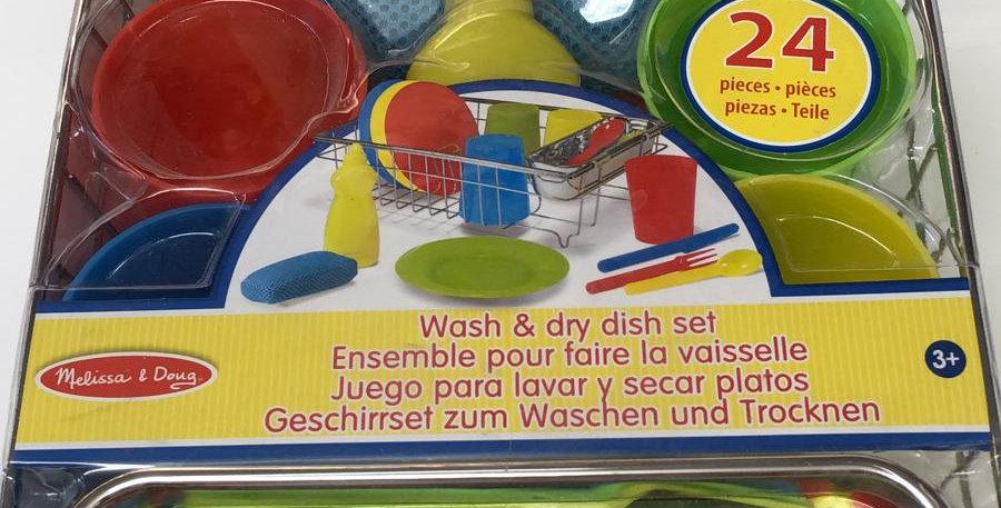 Melissa & Doug: Wash and Dry Dish Set 3+