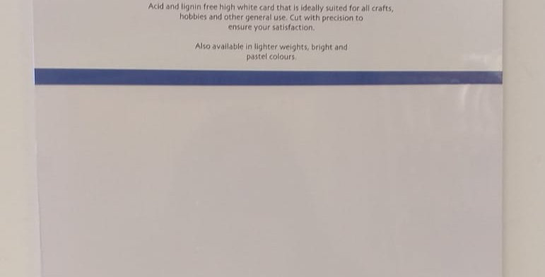 A4 thick white card 15 sheets