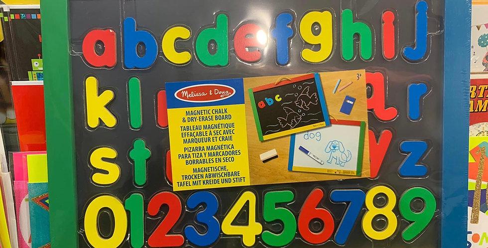 Melissa & Doug: Magnetic chalk & dry-erase board