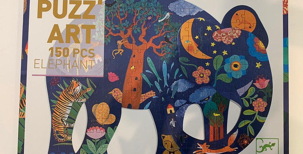 Puzz Art: 150 Piece Elephant