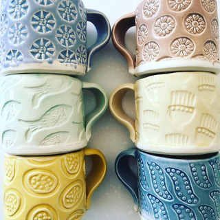 Patterned espresso cup.