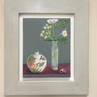 Bluebird vase