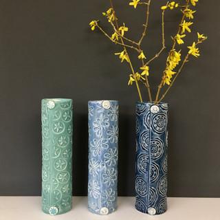 Thin cylinder vases