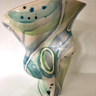 Aqua and blue vessel