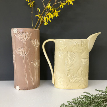 Large vase and jug