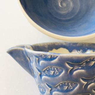 Wide patterned jug detail.