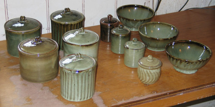 2005 bowls and lidded jars.JPG