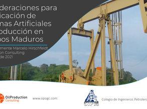 Consideraciones para la Aplicación de Sistemas de Levantamiento Artificial en Campos Maduros