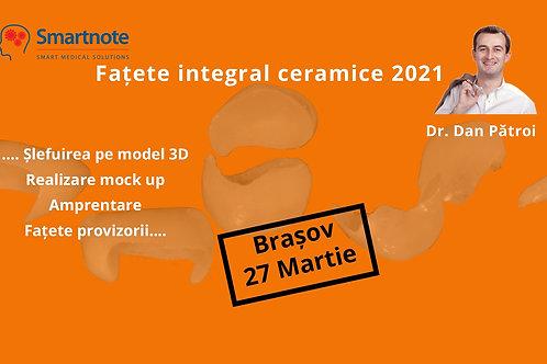 CURS FATETE INTEGRAL CERAMICE, BRASOV  2021