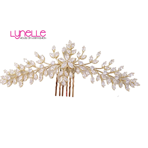 BRIDAL HAIR PIECE GOLD GODDESS FK0903230-02