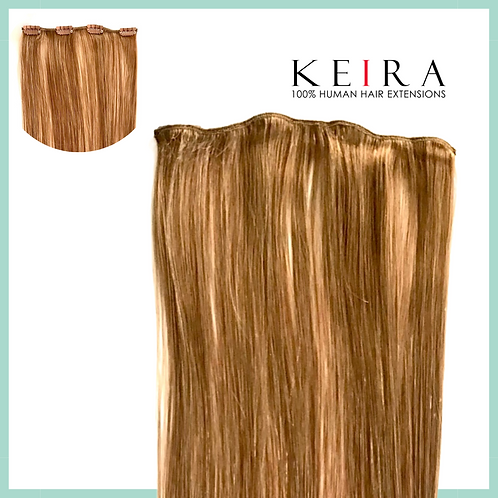 Keira Human Hair Extensions 22 Inches 4-clip, Bombshell Colors