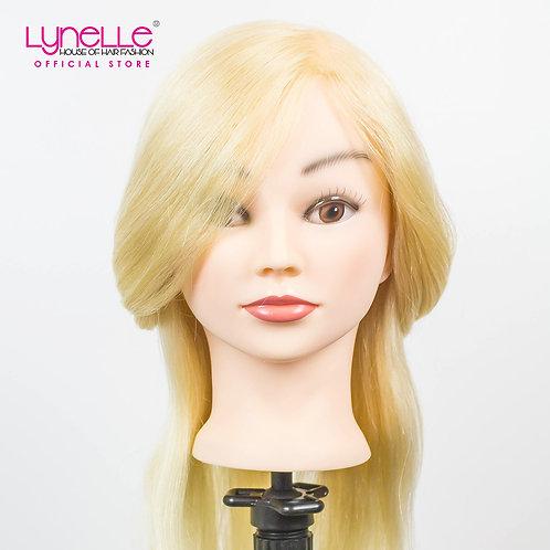 Training Head 100% Human Hair 18 inches Blonde
