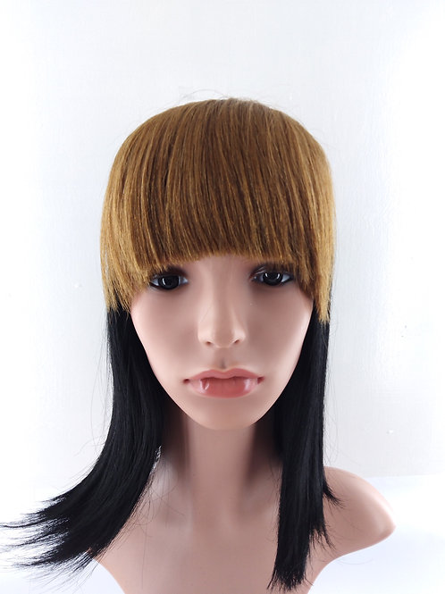 Human Hair Clip On Bangs Color: Golden Brown H.BANGS06046-6