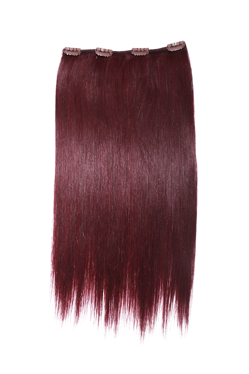 "Keira Human Hair Extensions Bra Length 16 "" 4-clip, Vixen Color L16W8"