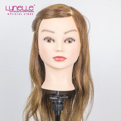 Training Head 100% Human Hair 18 inches Medium Brown TH-18INCH A1 CLASS