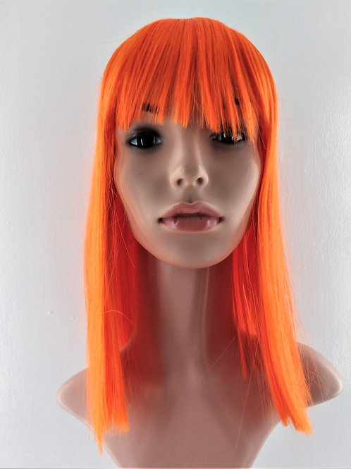 3999 Class A Synthetic Mid Length Wig with Full Bangs