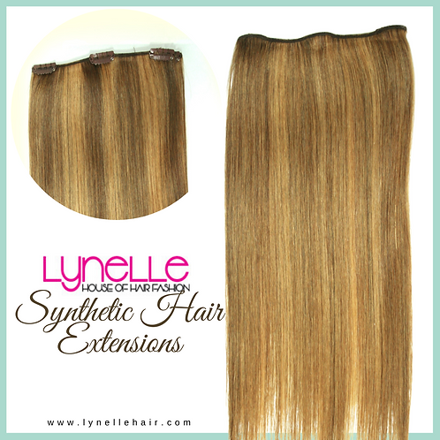 Synthetic Clip On Hair Extensions Bra Length 3 clips COM 16-6-P6/27S
