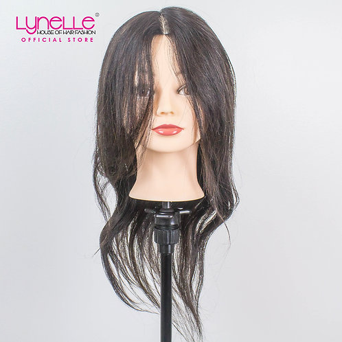 Training Head 100% Human Hair 18 inches Dark Brown TH-18INCH A1 CLASSA-2