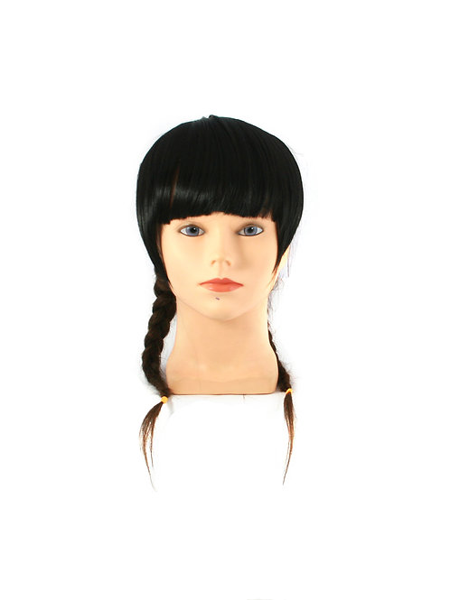 Full Fringe with Sideburns HT1202  Synthetic Clip-on Bangs