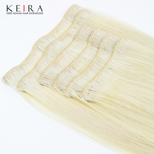 "Keira Human Hair Extensions Bra Length 16"" Full Head Set L16-ICE BLONDE"
