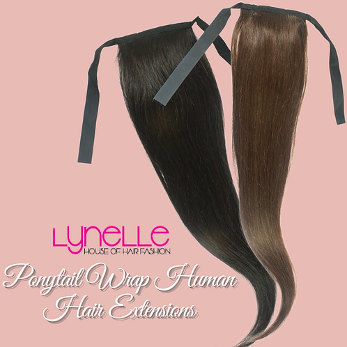 Ponytail 100% Human Hair Extensions Wrap Around