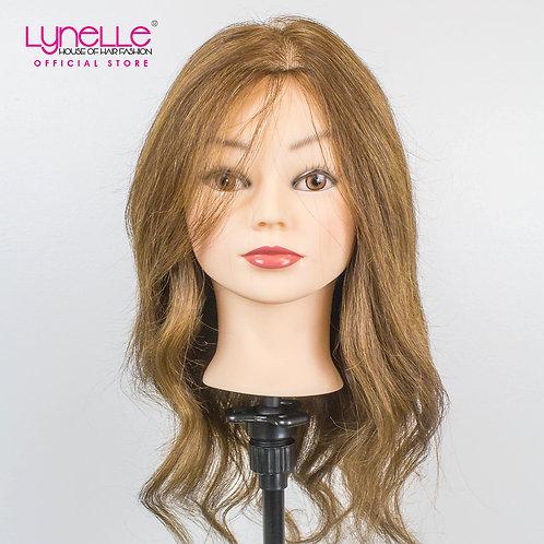 Training Head 100% Human Hair 18 inches Medium Brown TH-18INCH A2 CLASS