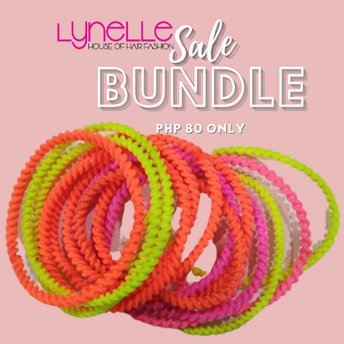 Lynelle 12 pcs Colorful Elastic Hair Ties Band Rope Ponytail Holder