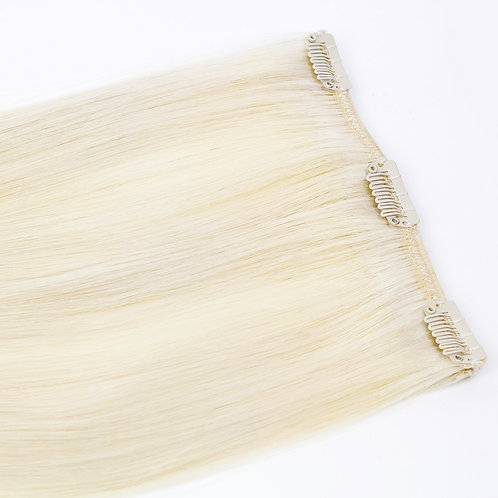 Keira Human Hair Extensions Bra Length 16 Inches 3-clip Ice Blonde L16W6C-BLONDE