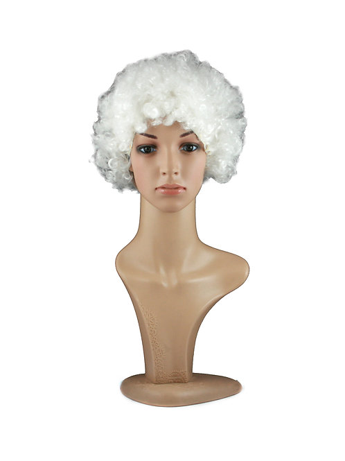 White Afro PP8 Synthetic Wig
