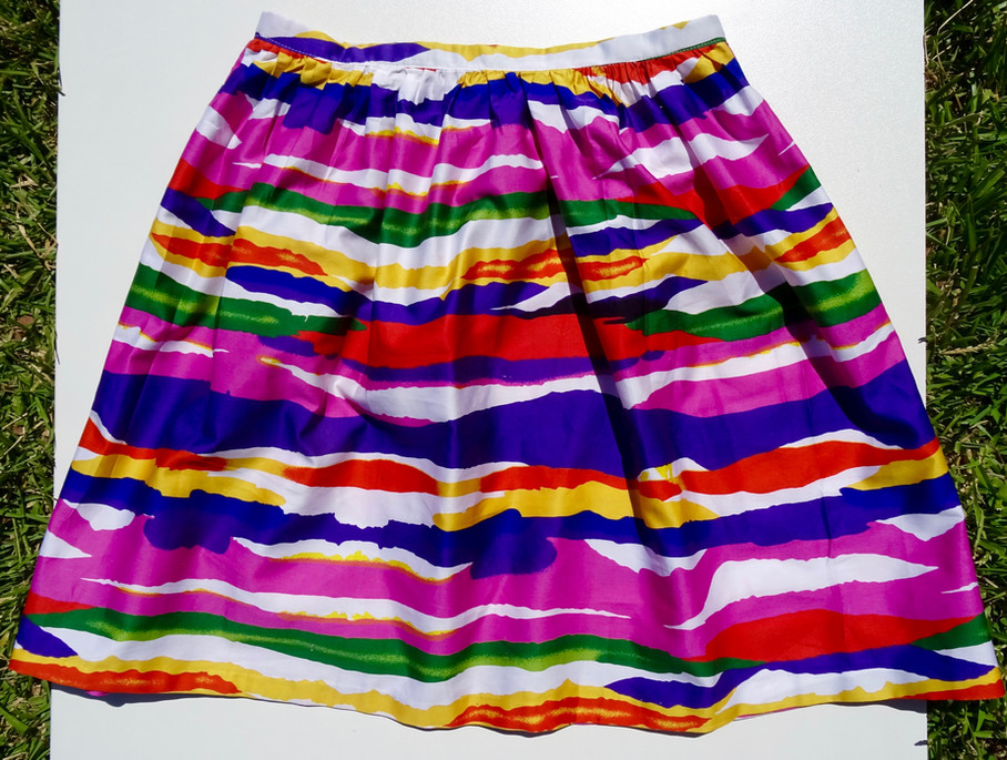 HOW TO SEW A GATHERED SKIRT - NO PATTERN NEEDED