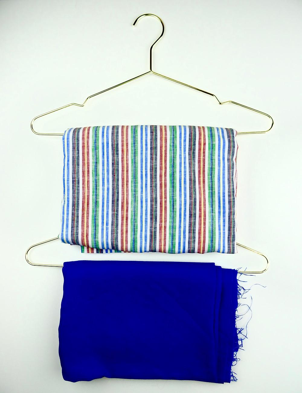 Striped Linen and Cobalt Blue Linen