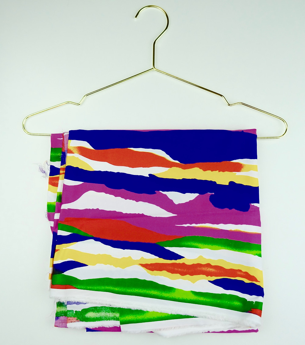 Brightly printed Polished Cotton