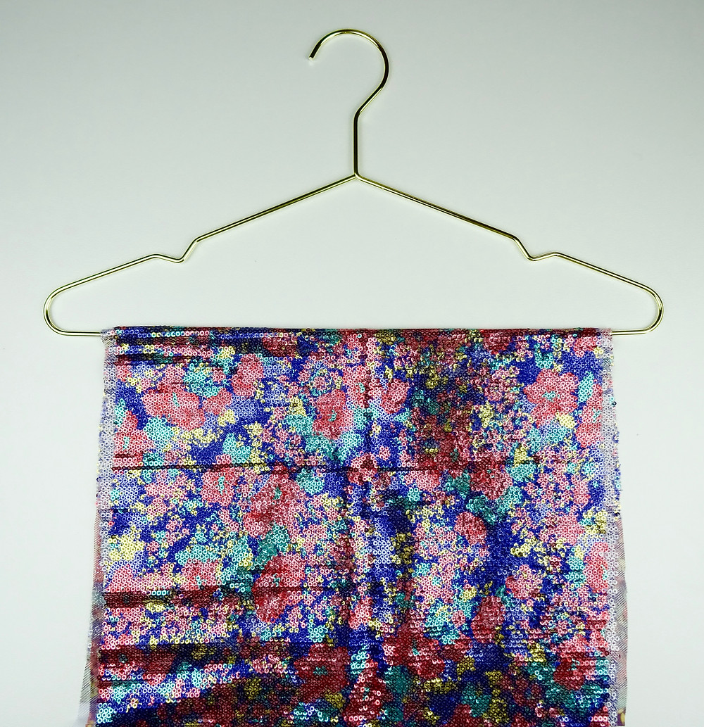 Floral Sequin Fabric