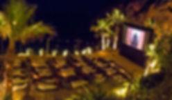 Ibiza events projector screen outdoor cinema