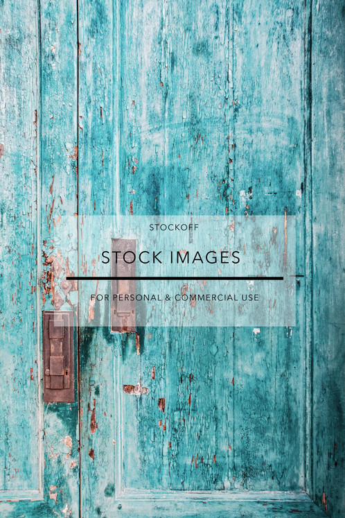 Turquoise Rustic Door Old Town Venice Italy Stock Photography Images