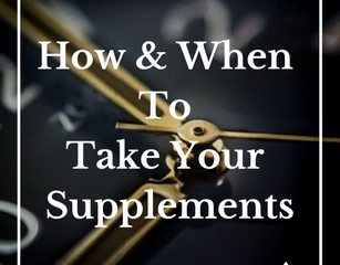 The Best Times of Day to Take Your Supplements