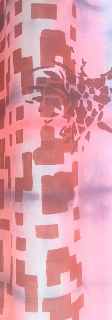 Grande écharpe ou paréo en voile de coton 200x85cm