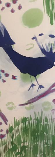 Grande écharpe en crêpe satin 90x190 cm
