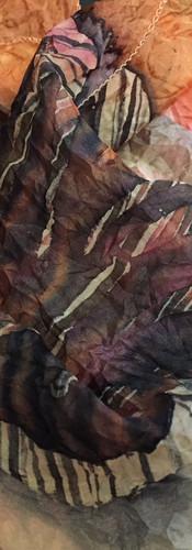 Petite écharpe en soie pongée 40x115 cm