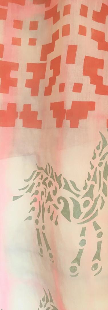 Grande écharpe ou paréo en voile de coton 200x85cm.