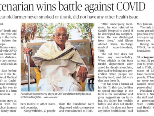 Centenarian wins battle against COVID