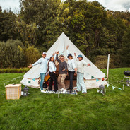 Venner på glamping Foto: Maria Sørlie