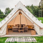 Seks telt for 2 personer. To telt for 2-3 personer.  Foto: Maria Sørlie