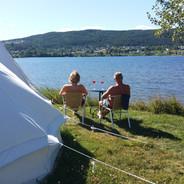 Sommerdag ved teltet