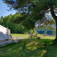 Sommerdag ved telt nr. 14