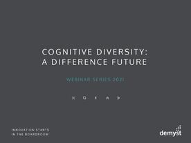 Cognitive diversity webinar 8 June 2021
