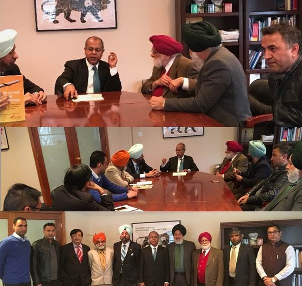 Metro politan Gurughar Meetings with the Minister of Indian Embassy's talked about visa / passpo