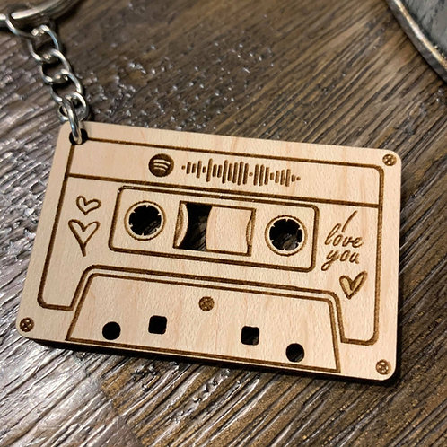 Playlist Cassette Keychains