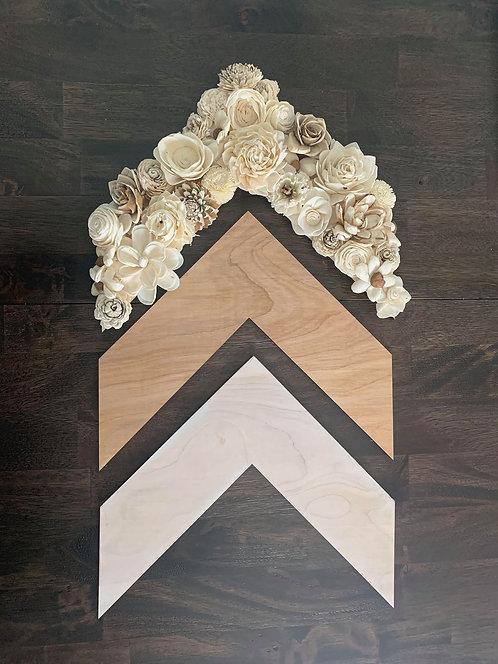 Wood Flower Chevron