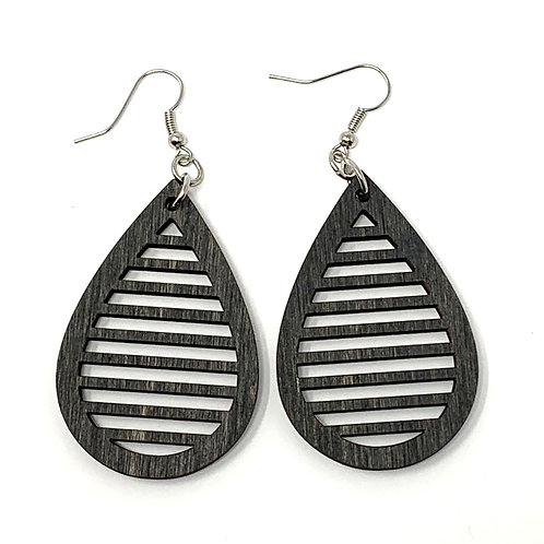Teardrop Slotted Earrings